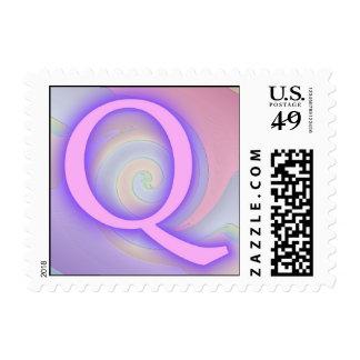 Pasión de la púrpura del monograma de Q