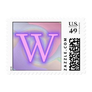 Pasión de la púrpura del monograma de W
