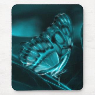 Pasión de medianoche, besos azules de la mariposa tapetes de ratón
