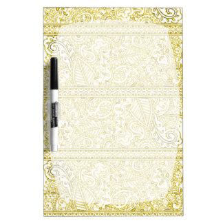 Pasión de Paisley - amarillo (alheña) Tableros Blancos