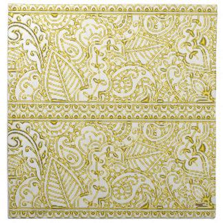 Pasión de Paisley - amarillo (alheña) Servilletas Imprimidas