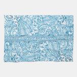 Pasión de Paisley - azul (alheña) Toallas