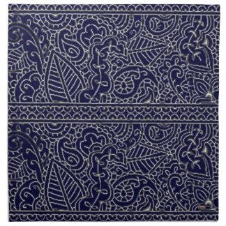 Pasión de Paisley - efecto de plata (alheña) Servilleta