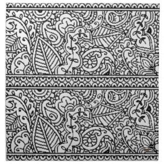 Pasión de Paisley - negro (alheña) Servilleta De Papel