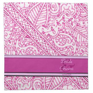Pasión de Paisley - rosa (alheña) (boda) Servilletas