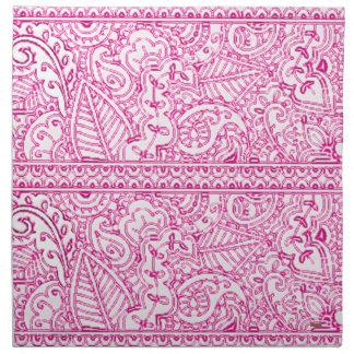 Pasión de Paisley - rosa (alheña) Servilleta