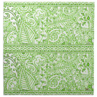 Pasión de Paisley - verde (alheña) Servilleta De Papel