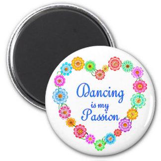 Pasión del baile imán redondo 5 cm