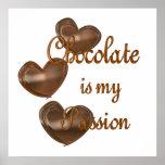 Pasión del chocolate posters
