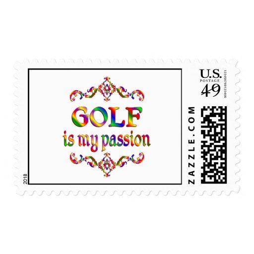 Pasión del golf sellos postales