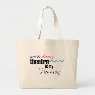 Pasión del teatro bolsa tela grande