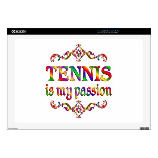 Pasión del tenis calcomanías para 43,2cm portátiles