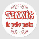 Pasión del tenis pegatinas redondas