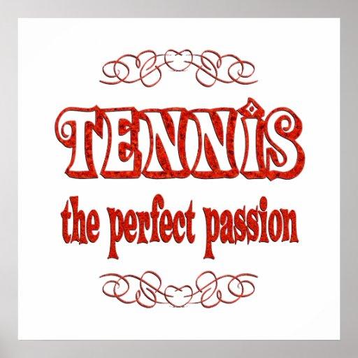 Pasión del tenis póster