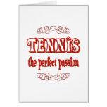 Pasión del tenis tarjetas
