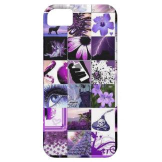 Pasión para el collage púrpura iPhone 5 coberturas
