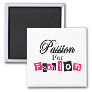 Pasión para la moda imán cuadrado