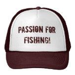 ¡Pasión para pescar! Gorros