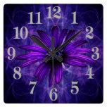 Pasión púrpura de la margarita relojes