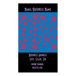 pasión púrpura que siente el modelo del círculo de tarjetas de visita
