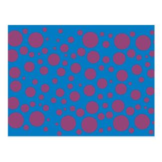 Pasión púrpura que siente puntos mareados del arte postal