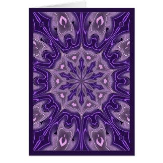 Pasión púrpura tarjeta de felicitación
