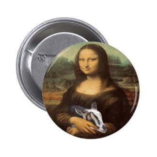 Pasión secreta de la cabra de Mona Lisa Pin Redondo De 2 Pulgadas