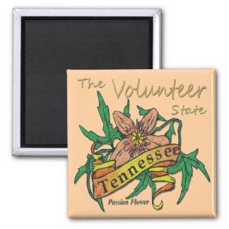 Pasión voluntaria 2 del estado de Tennessee Imán Cuadrado