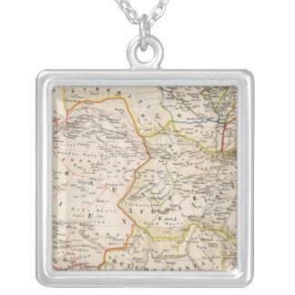 Paskistan and Asia Square Pendant Necklace
