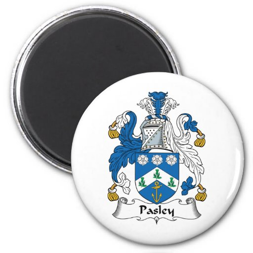 Pasley Family Crest 2 Inch Round Magnet