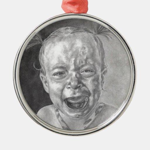 paso 5 001.jpg del grito del premio Emmy Adorno Navideño Redondo De Metal