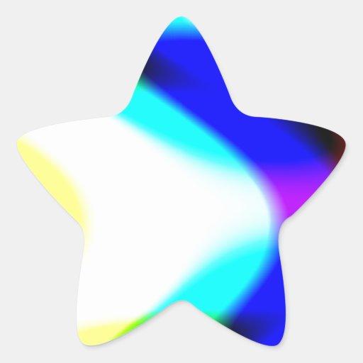 Paso a través calcomania forma de estrella personalizada