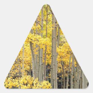 Paso Colorado de Kenosha de los álamos tembloses Calcomanías Trianguloes Personalizadas