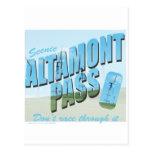 Paso de Altamont Tarjeta Postal