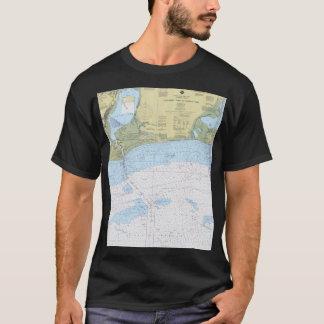 Paso de Calcasieu a la camisa náutica de la carta