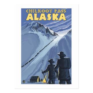 Paso de Chilkoot, mineros de oro de Alaska Postal