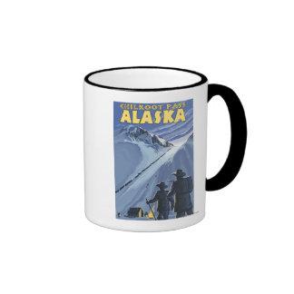 Paso de Chilkoot, mineros de oro de Alaska Tazas