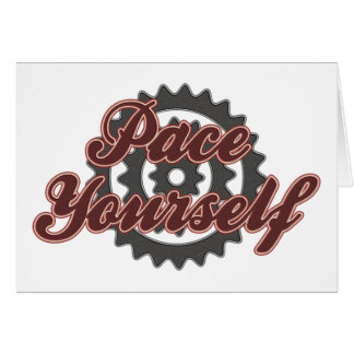 Paso de ciclo que monta en bicicleta usted mismo tarjeta de felicitación