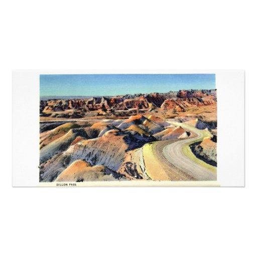 Paso de Dillon, Badlands, Dakota del Sur Tarjeta Fotografica Personalizada