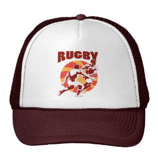 Paso de funcionamiento del jugador del rugbi abord gorras