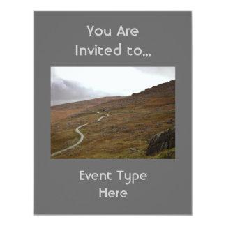 """Paso de Healy, carretera con curvas en Irlanda Invitación 4.25"""" X 5.5"""""""