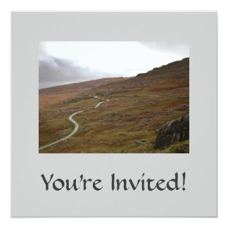 """Paso de Healy, carretera con curvas en Irlanda Invitación 5.25"""" X 5.25"""""""