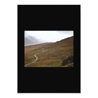 """Paso de Healy, carretera con curvas en Irlanda Invitación 5"""" X 7"""""""