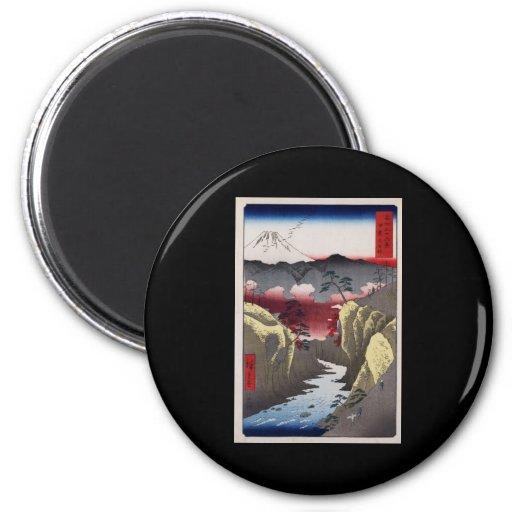 Paso de Hiroshige Inume en la provincia de Kai Imán Redondo 5 Cm