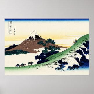 Paso de Inume en el poster de la provincia de Kai