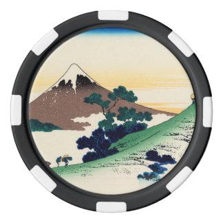 Paso de Inume en la provincia de Kai Juego De Fichas De Póquer