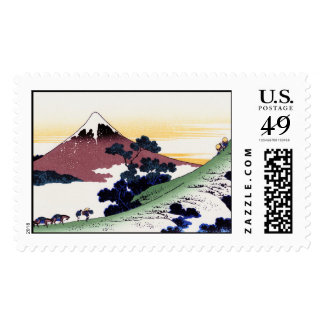 Paso de Inume en la provincia de Kai Katsushika Timbre Postal