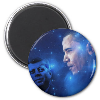 Paso de la antorcha, John F. Kennedy Barack Obama Imán Redondo 5 Cm