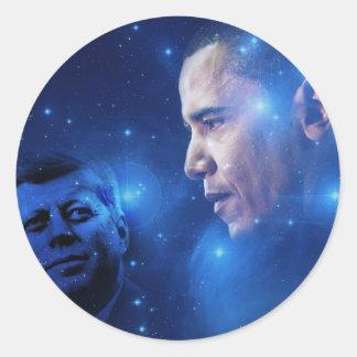 Paso de la antorcha, John F. Kennedy Barack Obama Pegatina Redonda