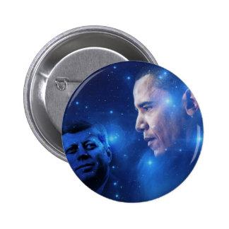 Paso de la antorcha, John F. Kennedy Barack Obama Pin Redondo 5 Cm